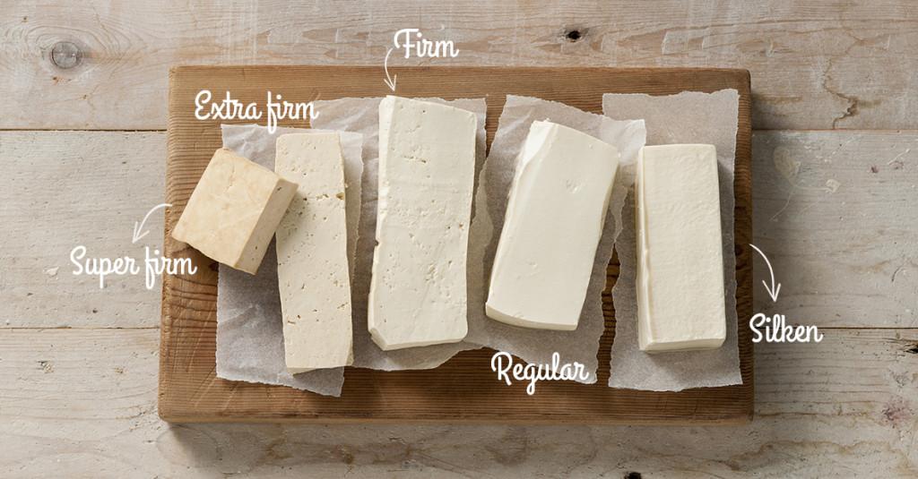 verschillende typen tofu