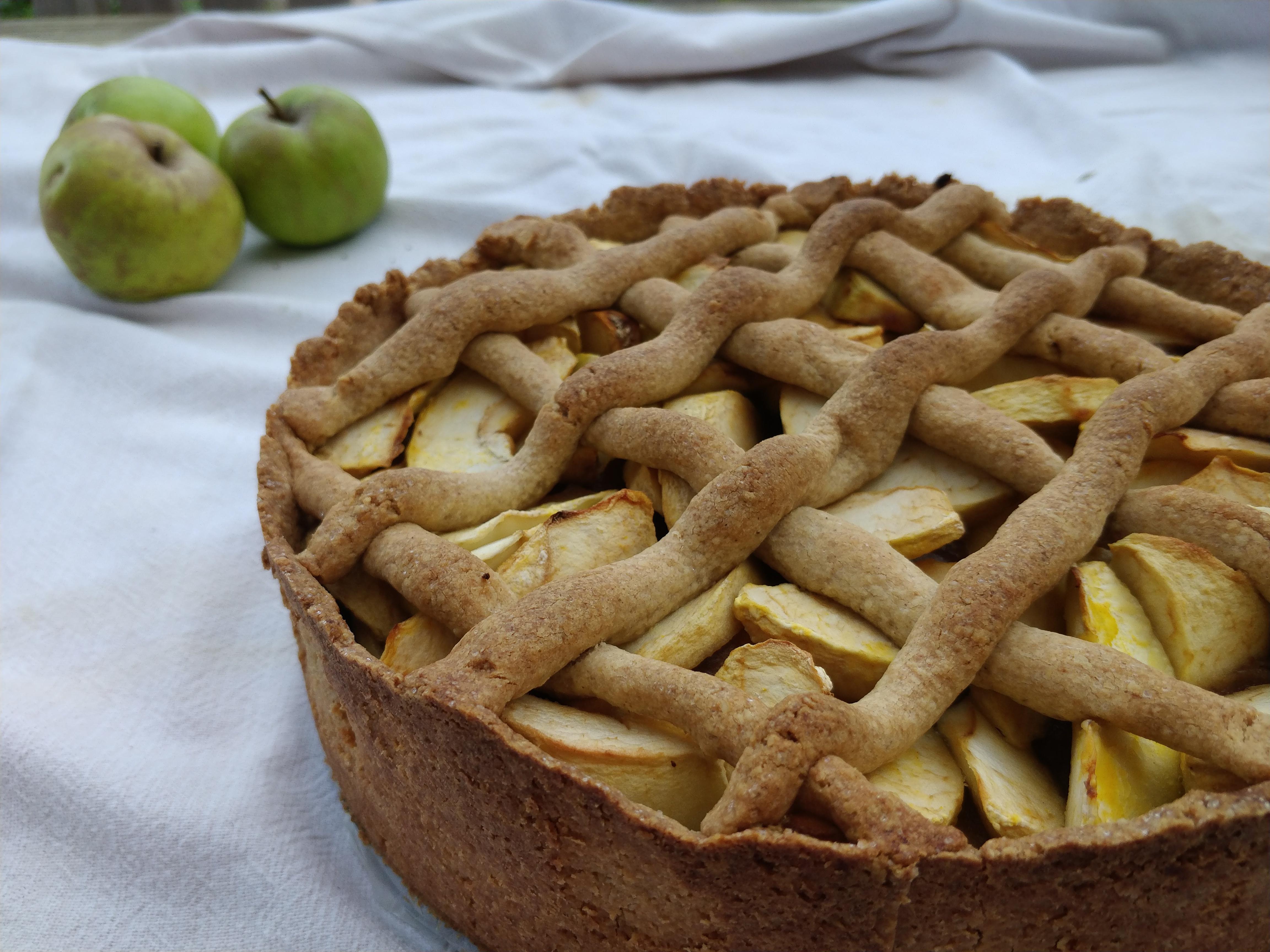 Glutenvrije en notenvrije appeltaart